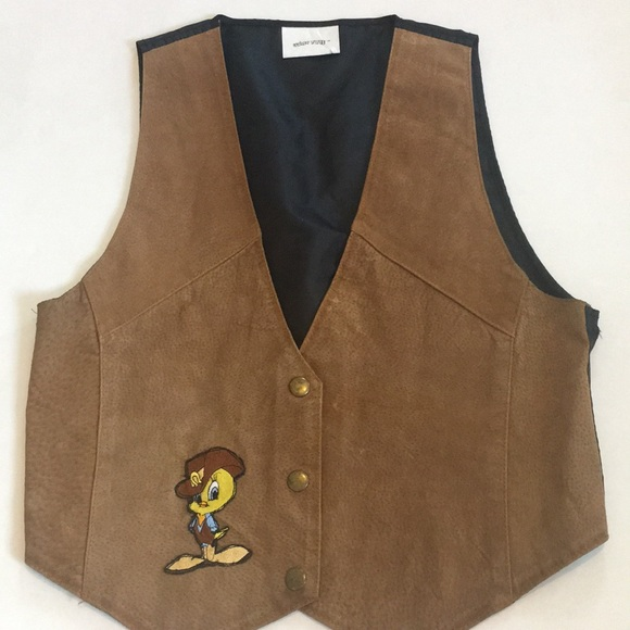 looney tunes Jackets & Blazers - Vintage 90's looney tunes tweety bird vest